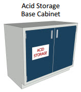 Acid Storage Hood Base Cabinet