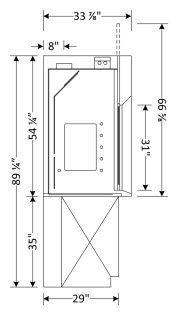 Bypass Fume Hood Dimensions