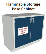 Flammable Storage Hood Base Cabinet