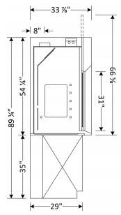 Radio Isotope Fume Hood Dimensions