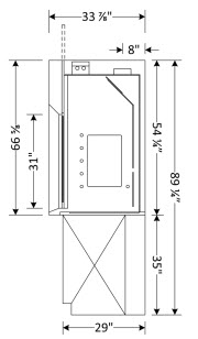 Variable Volume (VAV) Fume Hood Dimensions