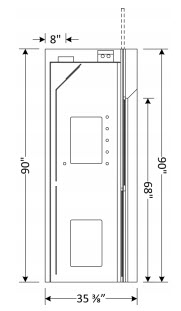 Walk-In Fume Hood Dimensions