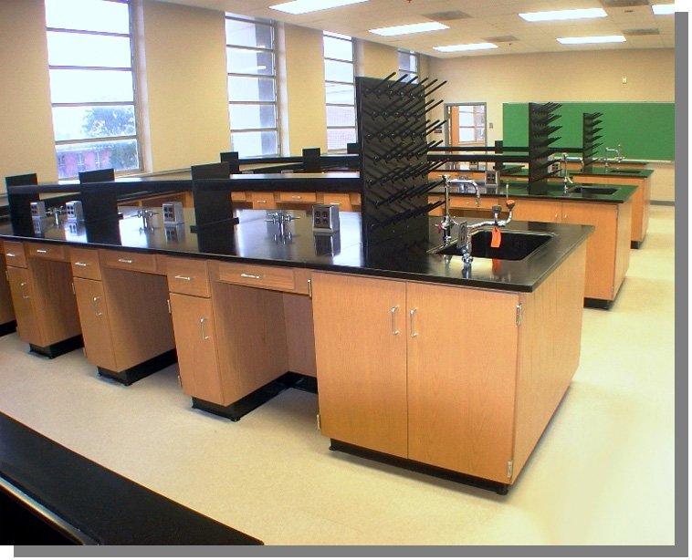 Wood Lab Cabinets